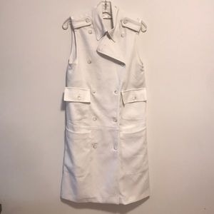 Trench dress sz large in white